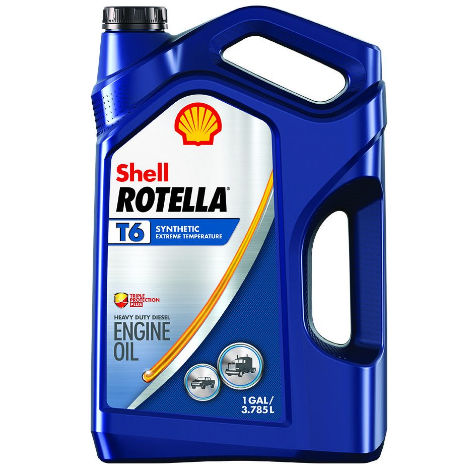 Shell rotella t6 5w 40 diesel oil firestone complete for Synthetic motor oil change schedule