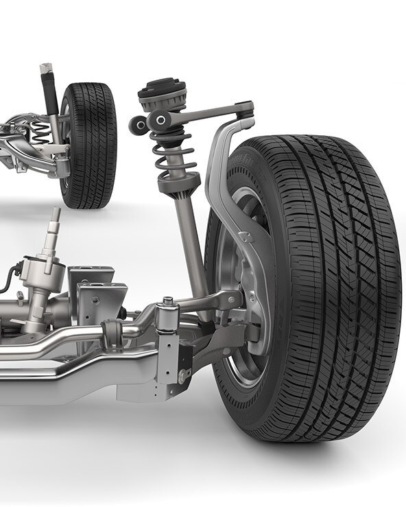wheel alignment components suspension system