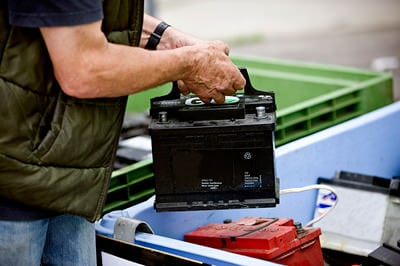 Car battery recycling area: time for a replacement